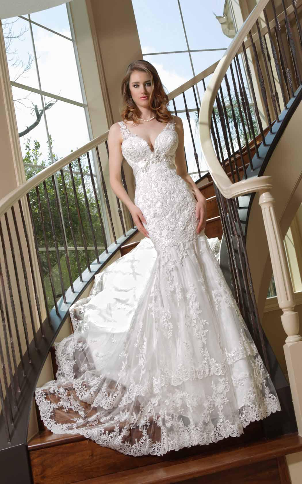 See larger image for Beaded lace mermaid wedding dress