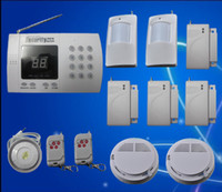 Wholesale Hot New wireless home alarm system with auto dialer freeshipping