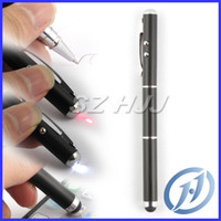 Wholesale Capacitive Stylus Pen in Laser Ballpoint Metal Pen for iphone Samsung Tablet