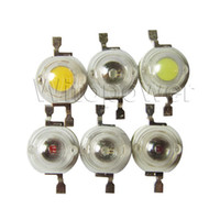 Wholesale 50pcs W LED Lamp beads High Power White Warm White Red Green Blue Amber Deg Light