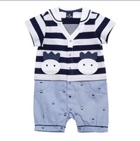 Cheap Children's Day boys dress rompers Best Boy Short Sleeve summer clothes