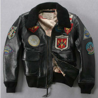 Wholesale best selling original Men s genuine Leather Jacket AVIREX Air Force clothing motorcycles JACKET
