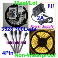 Wholesale Non waterproof M Led Led RGB Strip light tape light W M Key A Power Pin Control Box