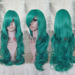 Wholesale Long Green Curly Cosplay Sailor Neptune Wig Women s Full Wig Wigs Gift