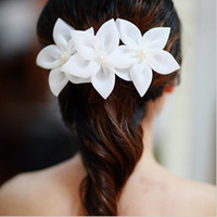 Silk Flower Clip & Pin  Happy Wedding Brital Hair Accessories Hair Clips Hairpins Orchid Flowers Silk Yarn 50pcs Lot