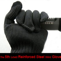 Wholesale Level Reinforced Steel Wire Glove Anti cutting Gloves Protective Gloves Safety Glove