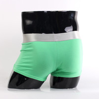 Wholesale Hot Men Women S Steel and Boxers amp Briefs Silver Trunk with Green Bottom and Letters International Brand Underwear