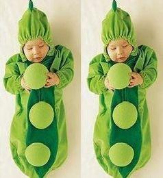 Wholesale Cute Pea Pod Baby Sleeping Bags Infant Sleeper Baby Fleabag Baby Bunting