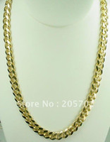 Wholesale best buy fine jewelry New quot K Gold Overlay Cuban Chain Link Necklace