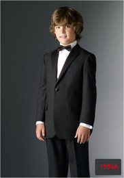 Wholesale 2013 Kid Clothing Fashion Kid Dinner Suit Kid Tuxedo Boy Suits Tailor Kid Suit Jacket Pants Black