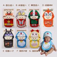 Cotton baby bibs waterproof set - ANPANMAN babys bib and caps piece set baby waterproof pinny Feeding Designs