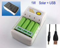 Wholesale 1W Solar charger with USB input charging for aa aaa battery