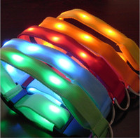 All festivals beautiful dog collar - New beautiful led Lamp beads pet collar led dog collar flashing dog collar with S M L size