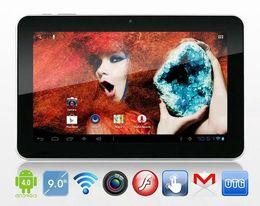 Dhl de la tableta de 8 gb en Línea-9 pulgadas Sanei N91 Elite Android 4.0 Tablet PC Allwinner A13 1GHz 8GB Wifi cámaras duales 3G externo de DHL EL ccsme