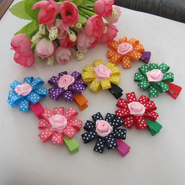 Fashion baby hair clips infant girl hair flower headwear kid s hair