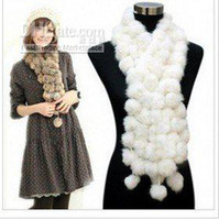 Wholesale 2012 luxury high quality thermal leather cape hare wool volleyball scarf sphere muffler scarf