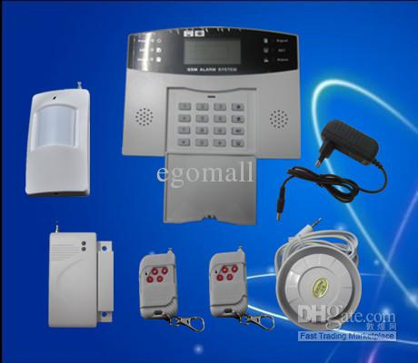 mobile call GSM Alarm System 7 wired and 99 wireless defense zones LCD  screen S211. Mobile Call Gsm Alarm System 7 Wired And 99 Wireless Defense Zones