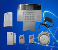 Wholesale mobile call GSM Alarm System wired and wireless defense zones LCD screen S211