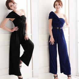 Wholesale 2013 New Womens one shoulder backless Overall Rompers Jumpsuit Pants Summer Trousers DK4015