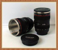 Wholesale 2013 New Arrival CPAM Coffee camera lens mug cup ABS Silicone Stainless Steel Drop shi