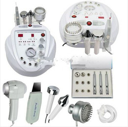 Wholesale 5IN1 DIAMOND MICRODERMABRASION ULTRAONIC COLD HOT SKIN PHOTON LED ULTRASOUND SKIN SCRUBBER MACHINE