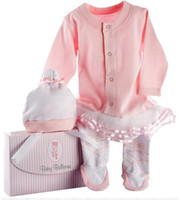 Wholesale Baby lace Romper Cartoon angel Infant Bodysuit Long Sleeve Jumpsuit ballet Long sleeve clothes