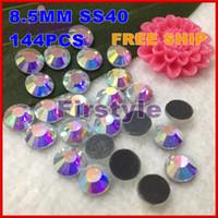 Wholesale SS40 MM SET CRYSTAL AB Color DMC Hot fix Crystal Rhinestones