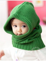 baby connect - Korean boy girl keep warm caps kid pentagram hat children connect neck cap baby Accessories