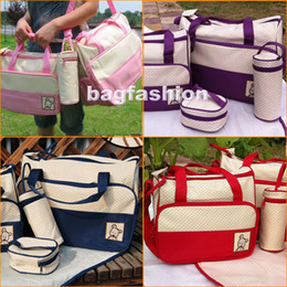 Wholesale 5pcs Multi Function Baby Diaper bags Super Large Carrier Tote Shoulder pvc Bag drop shipping