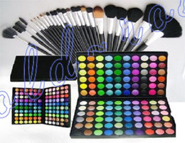 Wholesale NEW Makeup kit Colors Eye shadow pc Makeup Brushes SET SET Refillable Compacts