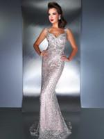 Wholesale 2013 Evening Dresses Spaghetti Flower Lace Floor length Formal Sheath Prom Dresses D
