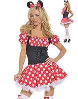 adult minnie costume - Cosplay Mouse Animal Sexy Costumes For Women Adult Minnie Mouse Mini dress Costume Plus Size Uniforms Outfits O31157