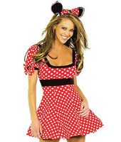 Sexy Costumes adult naughty costumes - Cosplay Animal Sexy Adult Maid Costumes For Women Naughty Mouse Costume Plus Size Mini Dress Mouse Ear Outfit O38030