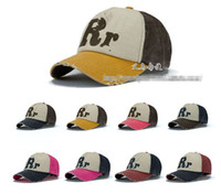 Wholesale Korean Man Women Fashion R Letter golf sports baseball casual hat