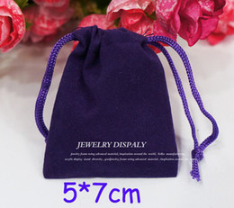 200pcs Purple 5*7cm Velvet Jewelry Earring Rings Necklace Bags Wedding Party Candy Xmas Gift Bags