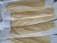 Wholesale 100g pc quot quot quot g g blond Stick I Tip Human Hair Extensions INDIAN REMY mix color DHL free