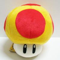 Wholesale Super Mario Golden Mushroom Plush - Golden mushroom plush Super Mario Mushrooms Stuffed Dolls Plush Toys 8 inch