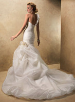 Wholesale 2013 latest style Neckline Mermaid wedding dresss Bridal Gowns Free Crystal Crown buy get