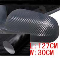 Wholesale D Carbon Fibre Vinyl Sheet Wrap Sticker Film Paper Decal mmx300mm Black New