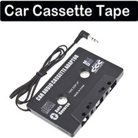 Wholesale NEW CAR CASSETTE TAPE ADAPTER transmitter FOR MP3 MP4 IPOD NANO CD PLAYER MD BLACK