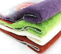 PVA other Hand Towel Free shipping 2pcs SET 20sets package two sizes random color kitchen washing towels HP002