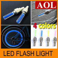 Wholesale Novelty LED Flash Tyre Wheel Valve Cap Light for Car Bike Motorbicycle Wheel Light Tire Light