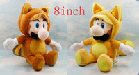 Wholesale Kitsune fashion Tanooki High Quality soft plush Luigi Doll toy fox Super mario Bros inch