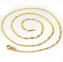 5pcs  lot delicat 2.7mm charm girl's jewelry gold-plate Stainless steel chain necklace 17.7'' xl-183