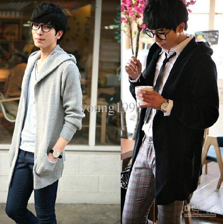 2017 Korean Style Solid Men 39 S Sweater Cardigan Fashion