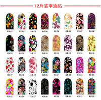 Wholesale 10 sheets sheet different styles nail polish silver pressed glitter nail stiker nail art