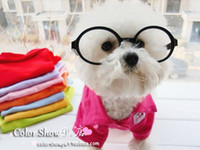 Cheap Free shipping wholesale classic candy color pure cotton pet Tee dog T-shirt leisure clothes polo
