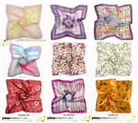 Wholesale Mixed selling silk scarves professional scarf square scarf woman s fashion neck scarf