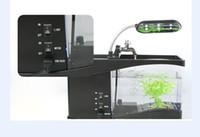 Wholesale Hot selling Portable USB LCD Desktop Lamp Light FishTank Aquarium LED Clock LED Clock Pen Holder