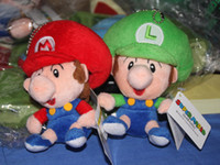 Wholesale Super mario bros plush figures inch baby mario amp baby luigi plush dolls toy Retail